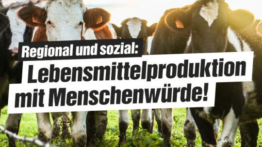 Lebensmittel mit Würde produzieren
